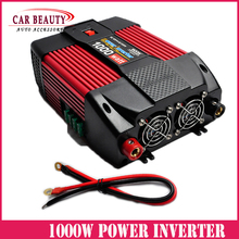 Car Power Inverter 1000W DC 12V/24V TO AC 220V/110V 1000Watt Converter Peak Power 2000W For Car And Familly