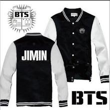 BTS Kpop Bangtan Boys Baseball Uniform Jimin V Suga Rap Monster Jungkook Jhope Jin Jacket High Quality Hoody Sweatshirt(China)