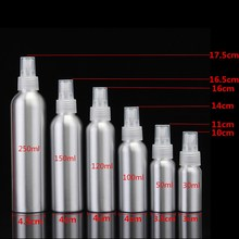 30/50/100/120/150/250ml Aluminium Spray Bottle 100ml Fine Mist Atomiser Empty Perfume Spray Bottles Cosmetic Packaging Container(China)