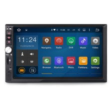 "7"" Quad Core 1024X600 RAM 2GB Double Two 2 Din Android Car Radio Audio DVD GPS Navigation Central Multimedia DAB DVR WIFI 3G(China)"