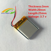 302025 3.7V 130mAh Li-Polymer Battery Pack Lipo Rechargeable Batteries Small Lithium Battery For Bluetooth