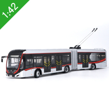 New 1/42 YuTong Bus ZK5180A City Bus Trolleybus Articulated bus Diecast Bus Model Gift Collection Original Box Free Shipping(China)