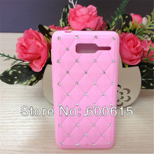 Luxury Bling Rhinnestone Silicone Case for Motorola RAZR D3 XT919 XT920 Skin Cover(China)