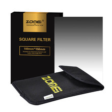 "Zomei 100x150mm Square Filter Graduated Grey ND2/ND4/ND8/ND16 Neutral Density ND Filter For Cokin Z-Pro Lee Hitech 4X6"" Holder"