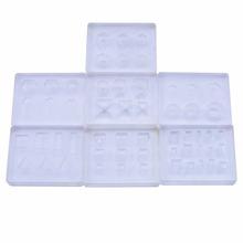 1PC 3D Nail Mold Nail Art Decoration DIY  Silicone Multi- pattern Stamper tool