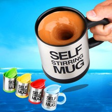 Hot Sale 5 colors Stainless Steel Lazy Self Stirring Mug Auto Mixing Tea Milk Coffee Cup Office Home Gift
