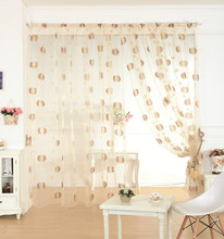 Circle design jacquard organza fashion tulle curtains for window
