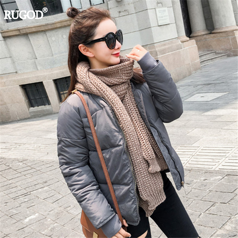 Rugod 2017 Classic Womens Winter Jacket Cotton Padded Bomber Parka Femme luxury Winter Coats Casual Thin Winter Jacket OutwearÎäåæäà è àêñåññóàðû<br><br>