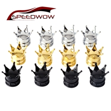 SPEEDWOW 4PCS Car Tyre Tire Valve Crown Tyre Tire Wheel Valve Air Valve Caps Dust Wheel Caps Car Truck Motocycle Accessories(China)