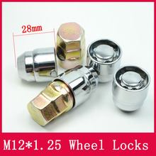 4nuts+2keys M12x1.25 Wheel Lock Nuts with rotation steel ring Anti theft Security Nut fit for Nissan Suzuki(China)