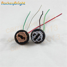 Rockeybright 7440 7443 Car Lamp Cable 7443 Bulb W21/5W LED Bulb Socket 7440 W21W Socket Turn Light LED T20 lamp holder connector(China)