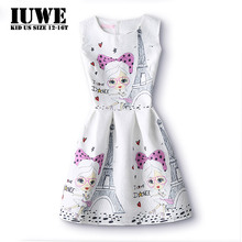 Summer Dress for Girls 12 Years Baby Clothes 2017 Cute Perple Girl Character Children's Dresses for Wedding Sundress Children 8(China)