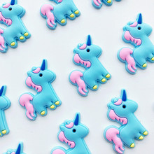 Cute Carton DIY Accessories unicorn flatback diy Center Crafts hair accessory 10pcs/lot(China)