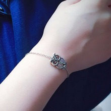 Silver Color Retro Owl Bracelets For Women Silver Bracelets Chain Bangles Fashion Jewelry Summer Style Gift  ns232