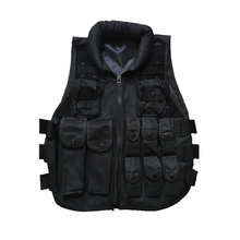Outdoor Training Airsoft Body Armor Black Paintball Swat Vest  Colete Tatico Military Army Style Tactical Vest for Men