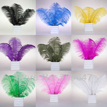 Wholesale 100PCS/LOT 14-16inch/35-40cm Quality Natural Multicolor OSTRICH FEATHERS freeshipping(China)