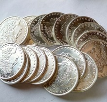 90% silver  dollars 3PCS(1879 cc morgan, 1855 seated liberty. 1928 peace) copy coins retail