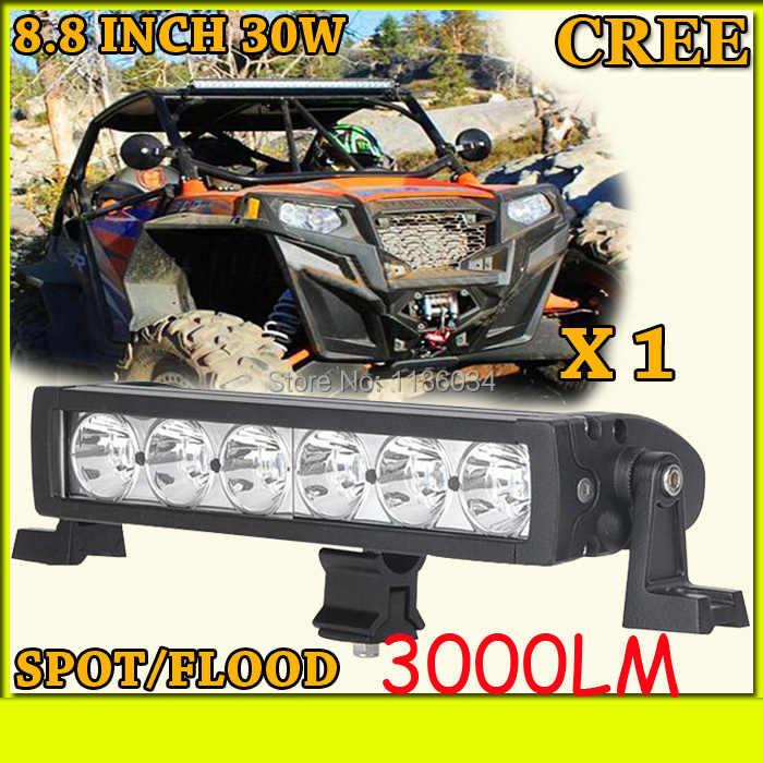 Free ship!1pcs/set,8.8inch 30W 3000LM,10~30V,6500K,LED working bar,Boat,Bridge,Truck,SUV Offroad car,black!<br><br>Aliexpress