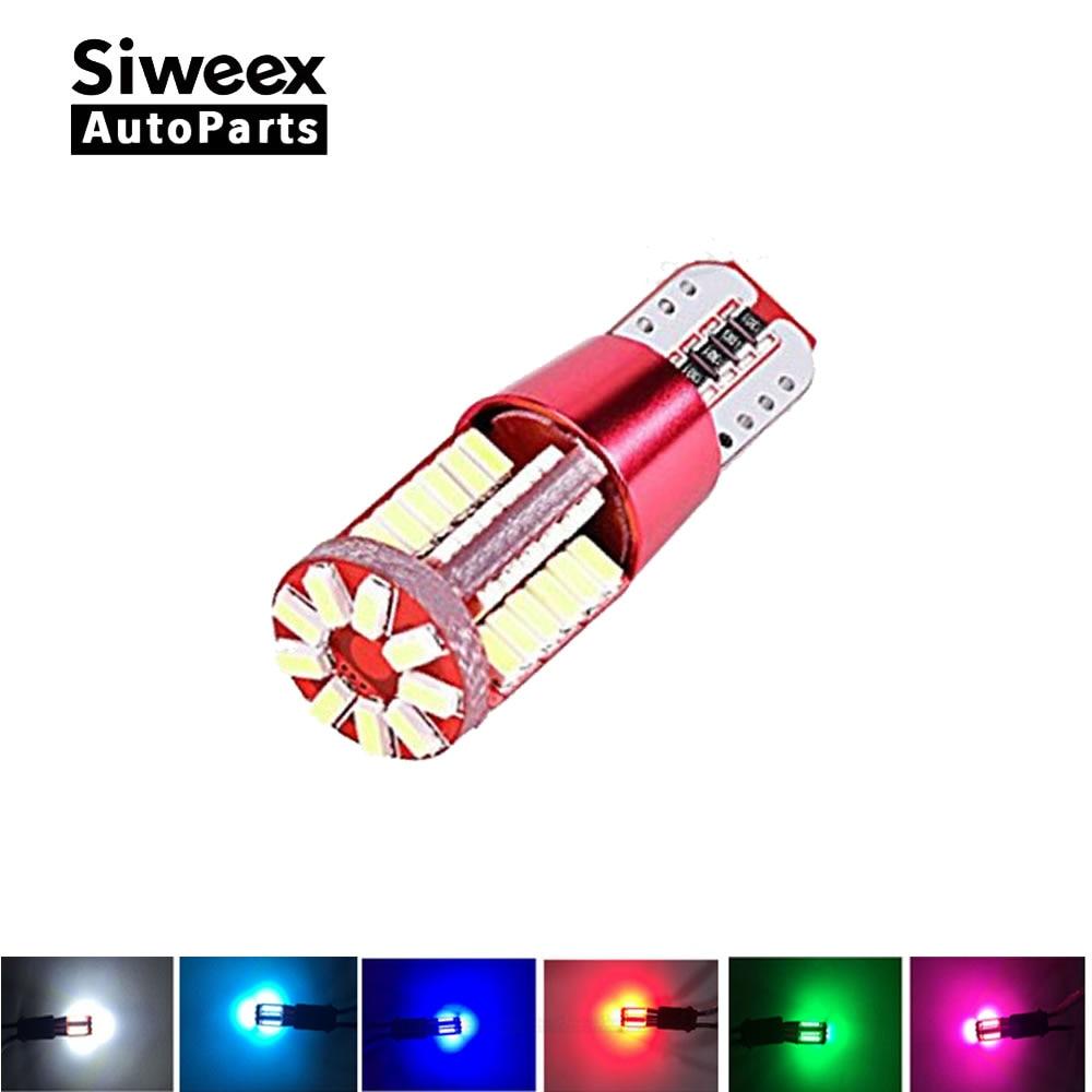 2PCS White T10 4014 57-smd 12v LED Bulbs For Car Interior Lights Signal Lights