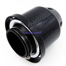 "Free Shipping 3"" (around 76mm) Inlet Carbon Fiber Style Universal Air Intake Filter (Not real carbon fiber)"
