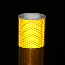 5cmx10M Yellow Reflective tape Car Styling Reflective Tape Stickers Universal External Decoration Supplies Car-styling