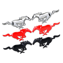 Horse Animal Metal Sticker Custom Text Stereo Letter Motorcycle Car Stickers DIY Emblem Sticker Car Styling For Ford Mustang(China)