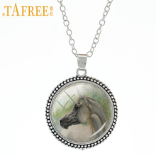 TAFREE Lifelike Horse Necklace cute animals Stock Vector pendant fashion Vintage send for men women great idea jewelry A08(China)