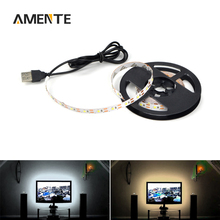 5V USB Port Lamp Tape LED Strip Light Ribbon 3528 SMD For TV Background Decorative Lighting Lantern Strings 0.5M 1M 2M 3M 4M 5M