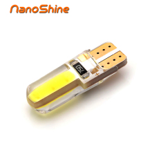 Nanoshine new led T10 w5w Silica gel car interior light 194 auto Wedge bulb marker lamp reading dome parking light COB 12V white