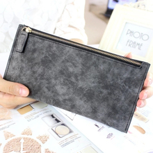 2017 new womens long wallets female fashion PU leather zipper clutch wallet Coin Purses Mobile Phone Bags Lady Card & ID Holders