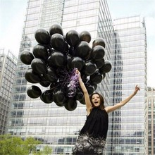 10pcs/lot 10inch 1.5g Black Latex Balloon Helium Air Ball Inflatable Wedding Children Birthday Party Supplies Decoration Balloon