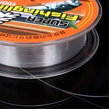 CAMTOA 100M 0.8-6.0 Super Strong Transparent Monofilament Nylon Fishing Line Wire