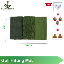 Golf Hitting Mat 64x40cm Indoor Training Putting Pad 25''x16'' Swing Practice Rubber Tee Eco-friendly Emulational Swing Mat(China)