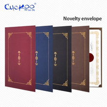Honor certificate classical retro nevelty gilding envelope A4 certificate cover letter paper contract document folder 6 pcs/set(China)
