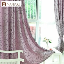Modern Curtains for Living Room Jacquard Fancy Design Curtain Drapes French Window Treatments Home Rideaux Grommet Top Custom(China)