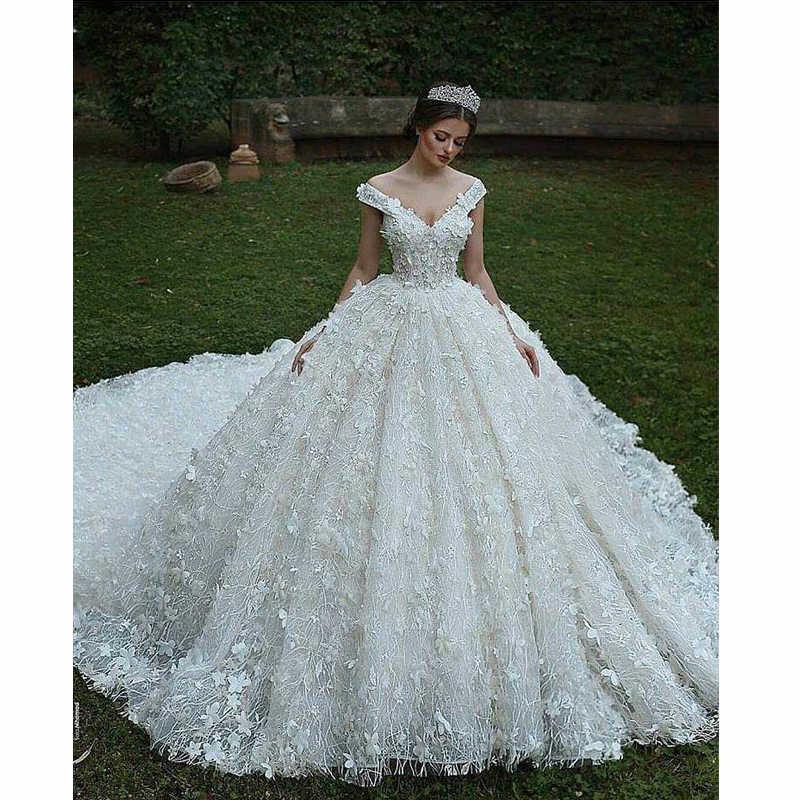 Empire Ball Gown Wedding Dress