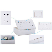 2016 New Arrival Fake Secret Wall Plug Socket Security Safe Money Jewel Box Hides Valuables   BS