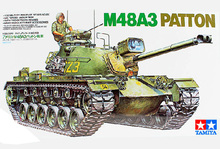 The TAMIYA assembling tank model 35120 1:35 WWII M48A3 Barton tank model