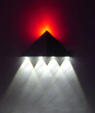 Dimmable/Not Triangle 5W LED Wall Sconce Lamp Fixture Kit Up/Down Light Corridor Disco Hotel Bedroom(China)