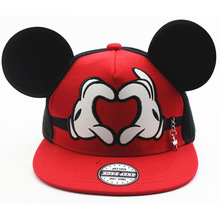 Cartoon Cute Mickey Baseball Cap for baby Big Ear Mouse Snapback Hats Children Kids Brand Hip-hop Cap Bone for boy and girls(China)