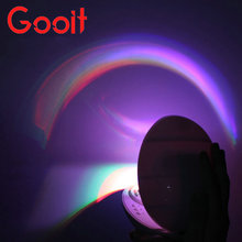 Creative Rainbow Romantic Star LED Projecting Lamp Night Light(China)