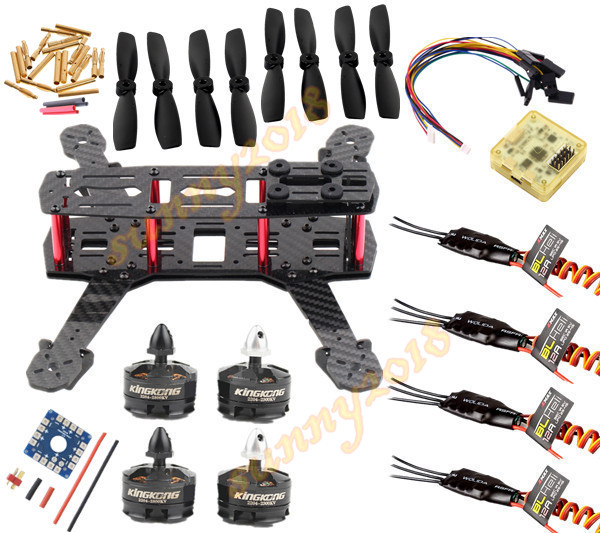 DIY QAV250 Carbon fiber Quadcopter Frame &amp; KINGKONG MT 2204 Motor &amp; EMAX BLHeli 12A ESC &amp; CC3D &amp; Bullnose Props<br><br>Aliexpress