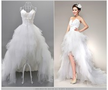 2017 hot Robe De Soiree Sweetheart Feather Train Hi-Low Formal Club Wedding Dresses Vintage plus size Customer made size 2-28W(China)