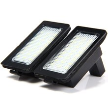 Hot sale Car Auto License Plate Lamp Vehicle External Lights SMD 3528 LED White Light 1.8W 18 LEDs Number Suitable for BMW E38(China)