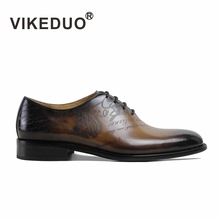 2017 Handmade Hot Brand Italy Designer Fashion Wedding Party Dance Dress Genuine Mens Leather Shoes For Male Men's Oxford Shoe(China)