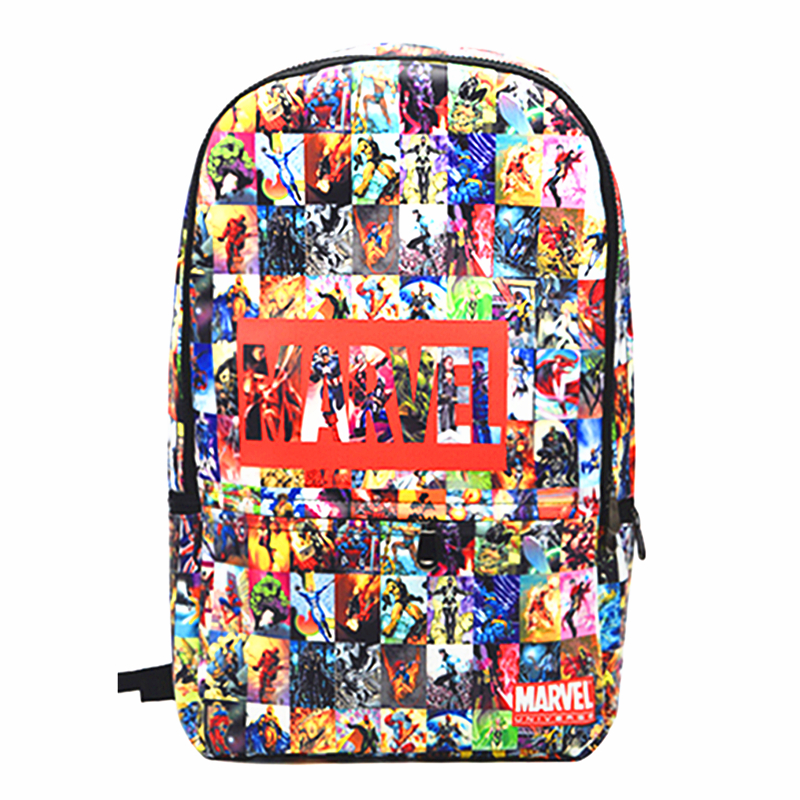 The Avengers PU Leather Backpack Thor Captain America Iron Man Superman Batman Spider Man School Bags Travel Bag Free Shipping<br>