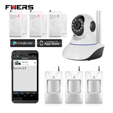 Fuers 720P HD Wireless IP Camera Night Vision Audio Recording Network CCTV  Indoor Alarm System Camera