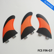 Surfboard FCS G7 Fins Quilhas FCS Surfboard Fin 5 Colors and Black Fiberglass Fin Honeycomb Good Quaility Free Shipping Fins