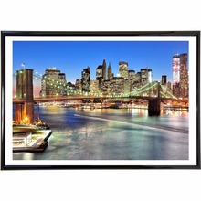 New York City Night  Quote Canvas Art Print Poster Wall Pictures For Bed Room Decoration Home Decor Silk Fabric No Frame