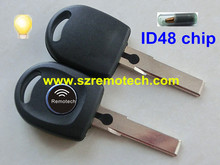 5pcs transponder key For  vw B5 passat transponder key ID48 chip HU66 with light